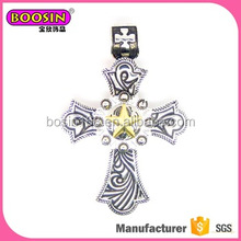 Holy religious charms antique cross charm ,cross charms in bulk