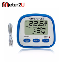 in/outdoor low battery clock function mini digital thermometers