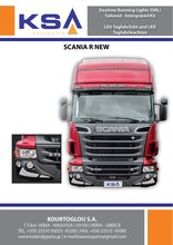 Spoiler With Daytime running lights integrated kit.for Scania R new