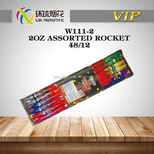 "W111-2 2OZ ASSORTED ROCKET 0.8"" SKY MISSILE 1.4G CONSUMER UN0336 OUTSIDE SAFE HIGH QUALITY ROCKET BY LIUYANG GLOBAL FIREWORKS"