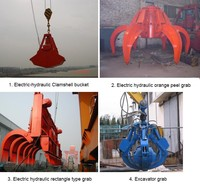 Direct grab supplier Durable and reliable bulk cargo handling hydraulic grab remote control clamshell grab bucket