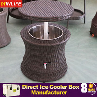 2016 Newly Design rattan made cooler as home furniture