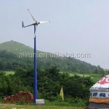 powerful 5kW pitch controlled dc motor wind turbine