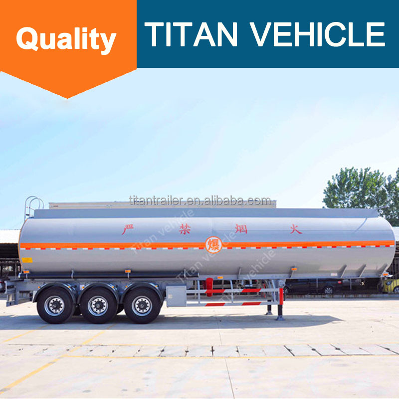 Mobile Fuel Tank Trailers , Insulation Fuel Tank Trailer , 50000 L Stainless Steel Tank semi trailer for sale