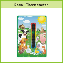 Shopping Festival Advertisement Card with Thermometer