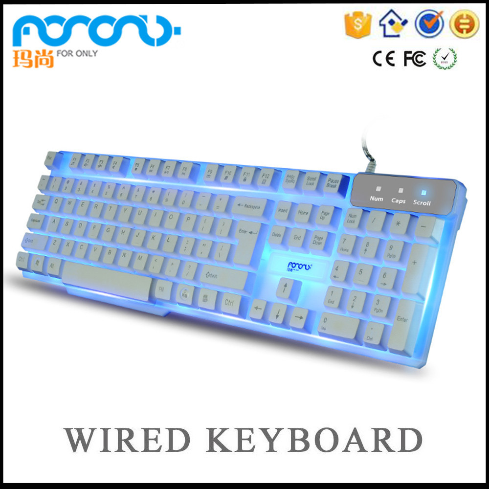 2016 latest rgb backlit gaming mechanical keyboard with floating keycaps Glow in the dark keypad keyboard hebrew