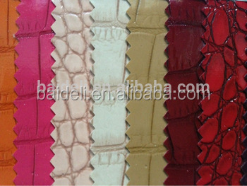 new pattern pvc pu pasted fabric artificial leather for baggage case
