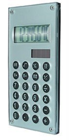 8 digit calculator with magnifiying efect