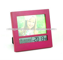 fashion red plastic pink alarm twin bell clock