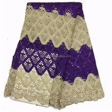 2017 Fashion New Design African Guipure Embrodery Mesh Lace Dresses for Women LC280-3