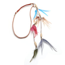 bridal wear accessiories colorful feather headband wholesale