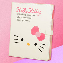 Screen Protector,HOT Popular hello kitty leather case for iPad 2 3 4,PU leather stand pouch