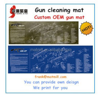 OEM AR-15,AK47,HK USP,Berreta92,Sig P220 gun cleaning mat,gun mat for preparing & cleaning