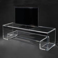 Clear Acrylic TV Stand High Quality Acrylic Computer Monitor Stand Custom Perspex TV Stand