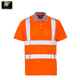 hot sale high visibility safety reflective polo shirt collar types