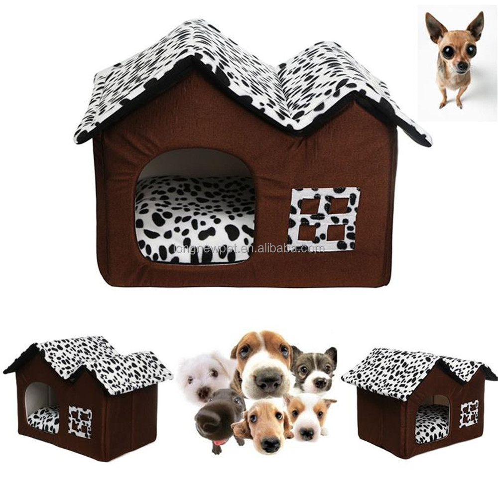 New Cheap Double Top Dog Kennels Soft PP Cotton Warm Insulated Dog Indoor House
