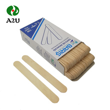 Biodegradable Wax Wood Spatula In Print Paper Wrapper Stick