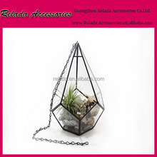 China Home Garden decorative indoor hanging flower pots planter clear glass terrarium for planter