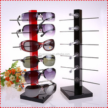 Multi color Red yellow black acrylic sunglasses display rack