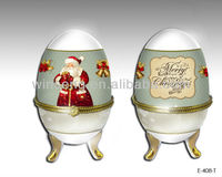 2014 Porcelain Christmas Egg-Shaped Jewelry Box For Home Decoration