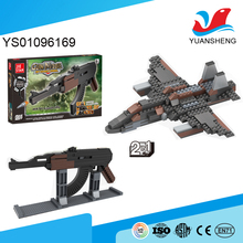 plastic block assembled 3d models rifle gun early education toys for kids