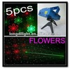 5PCS Laser Mini Light Projector fireworks and flowers Stage Lighting Club Bar