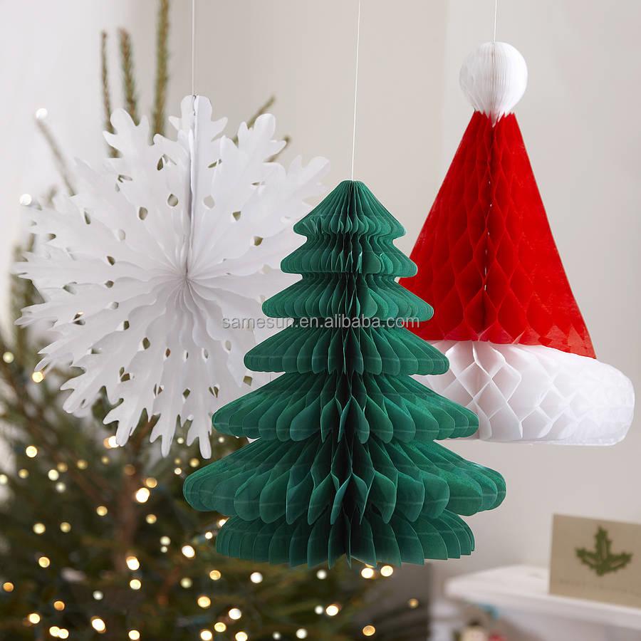 Unique honeycomb paper christmas decoration buy for Unique christmas decorations