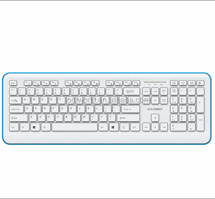 Ultra Slim 2.4G USB Wireless Keyboard with Dedicated Hot Keys