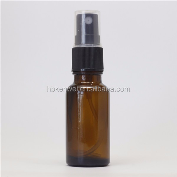 amber color glass spray bottle 30ml with atomizer pump