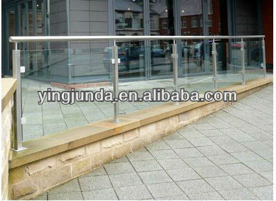 best railing fashion stainless steel frameless glass railing
