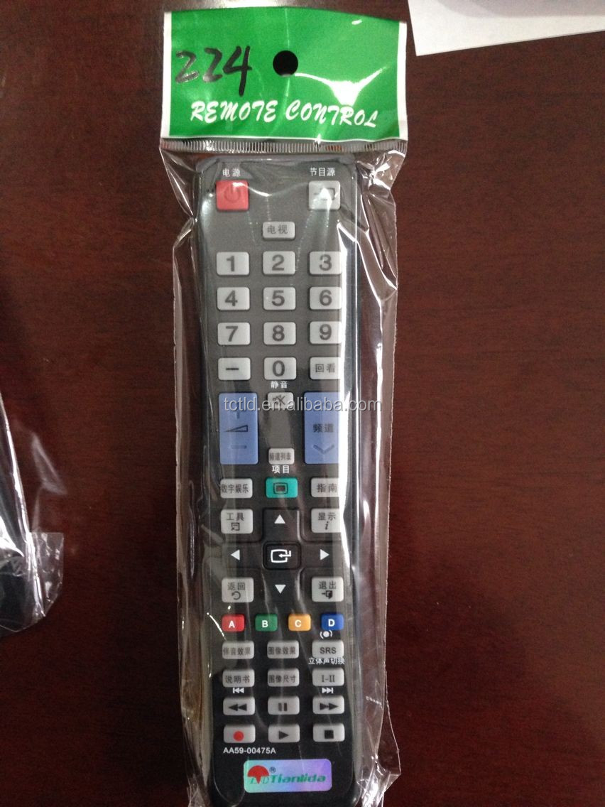 TLD-AA59-00475A speed best quality black IR remote control for brand led TV