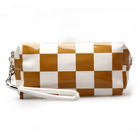 New arrival korean fashion cosmetic bag custom printed PU/ leather beatuy cosmetic bag