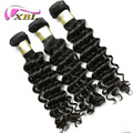 Wholesale drop shipping cuticle aligned raw brazilian virgin remy human hair deep wave