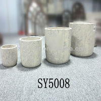 Natural cement clay flower pots wholesale