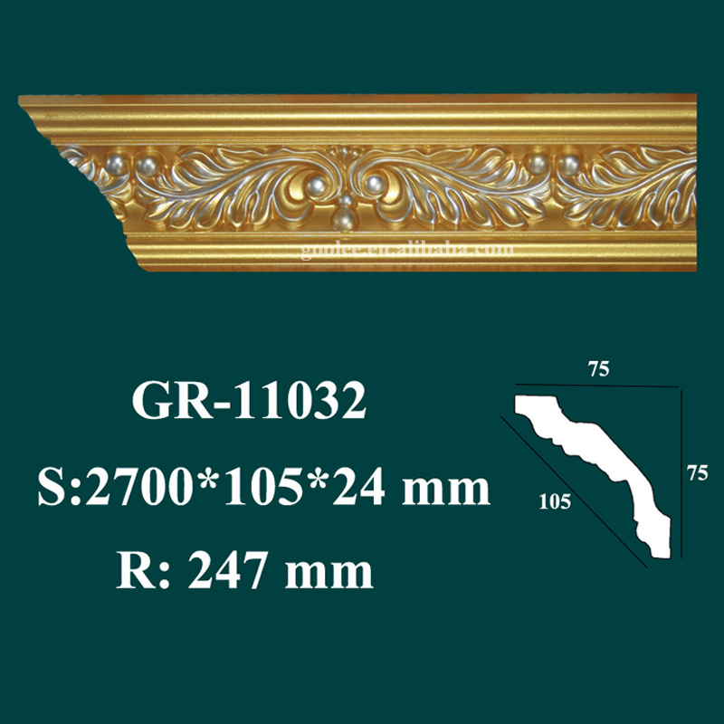 new design luxury products polyurethane craftsman style crown molding