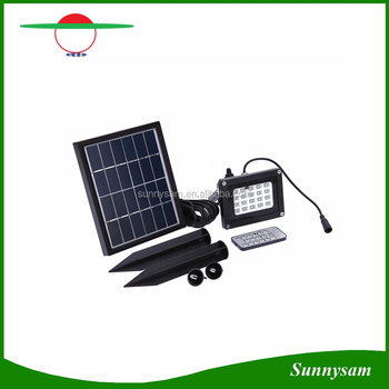 White/ Warm White Adjustable Brightness Remote Control Solar 20 LED Outdoor Flood Light Landscape Garden Light