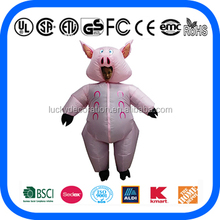 Hot sale Adult pink pig inflatable costume for adult inflatable costume