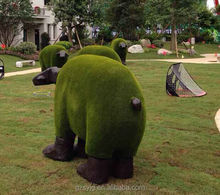 artificial cow foam & moss topiary cow for garden decoration