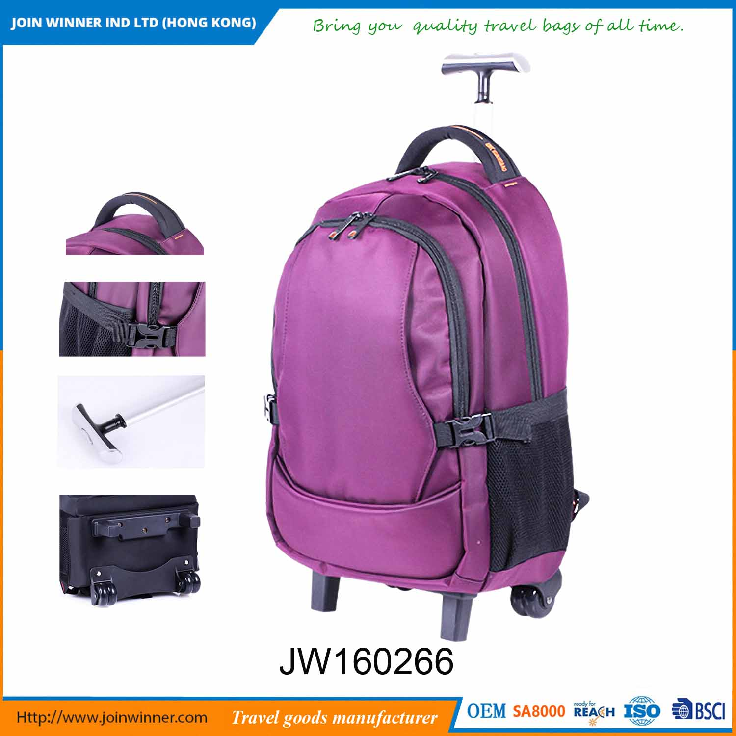 Chinese Manufacturer Rolling Camera Bag With Discount