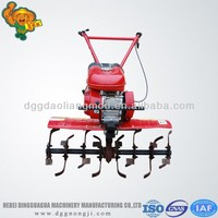 hot sales gasoline 7.5hp hand push rototiller/mini tractor