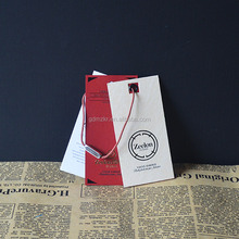 Custom recycled printing price hangtags with sealed string