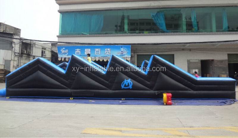 Sport training kids rush obstacle course, inflatable barriers race obstacle