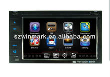 6.2 inch Universal Car GPS DVD with Radio, RDS, TV, iPOD,SD,USB, steering wheel control, rear view camera input,etc
