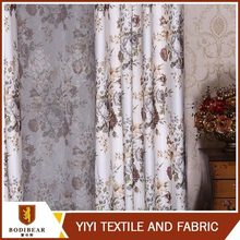Textile supplier ODM Embroidery drapery curtain