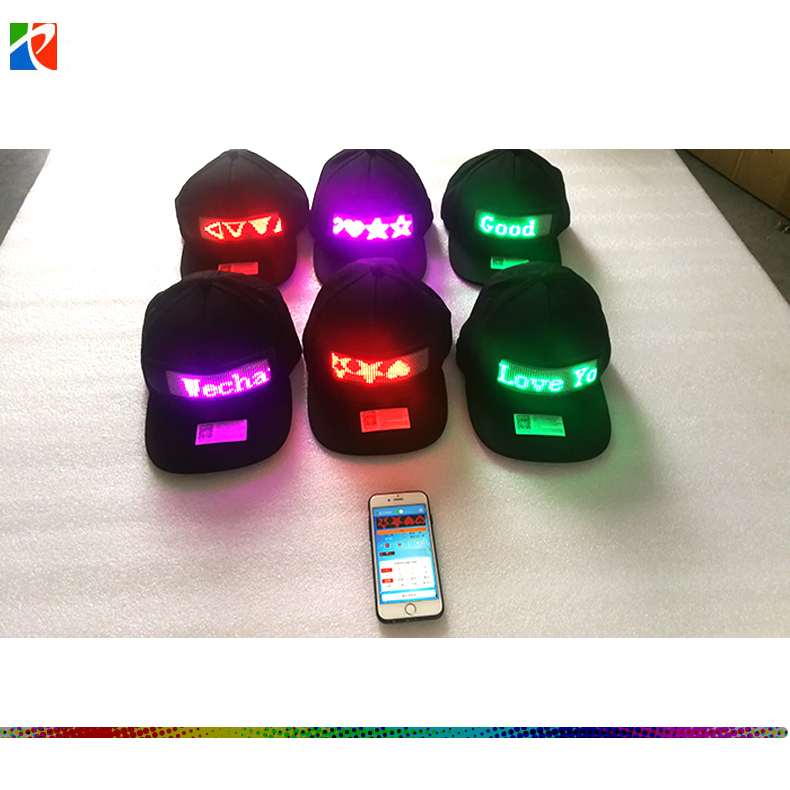 Bluetooth App programmable flexible green LED moving message display soft board for <strong>cap</strong>/hat/shoes