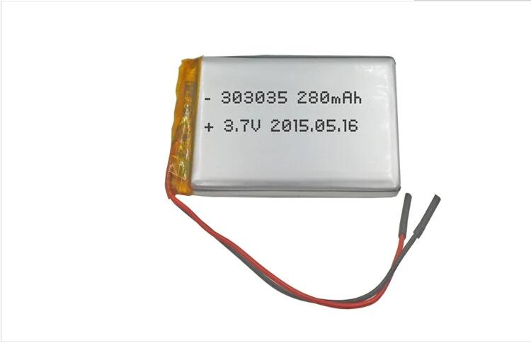 Hot sell small rechargeable 3.7v 280mah lipo battery for light