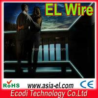 High brightness 2.3mm/3.2MM christmas tree decorate long EL lighting wire