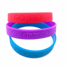 Hot selling Silicone Wrist Band/Personalized Silicone Bracelet/Silicone Rubber Bracelet