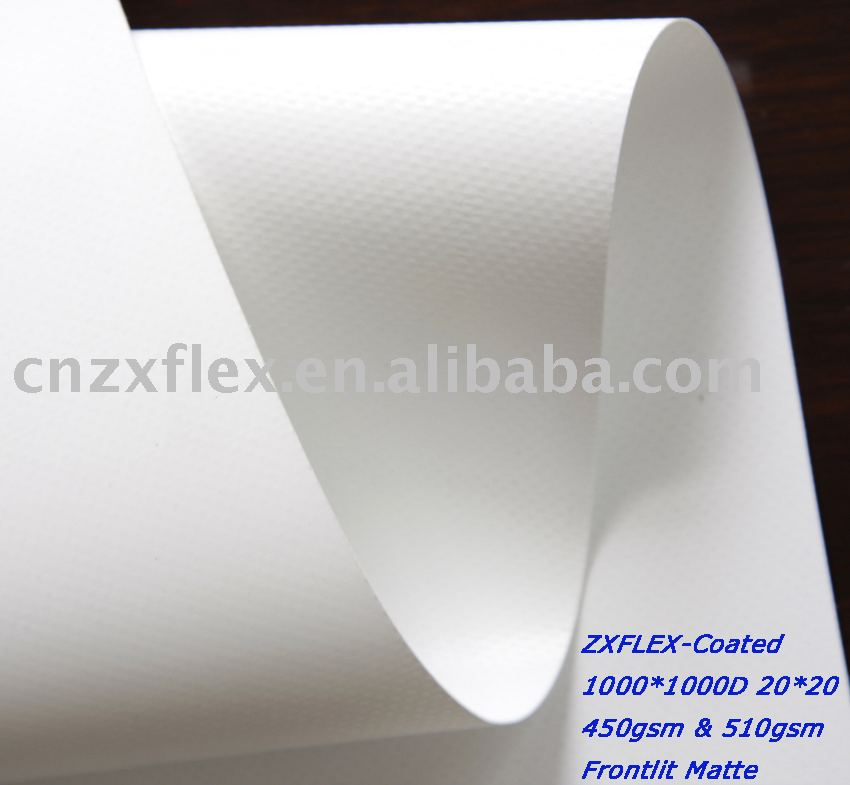 Knife coated flex banner, coated banner for solvent and eco solvent printing