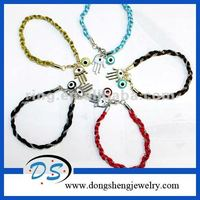 fj jewelry metal charms for paracord evil eye crystal bracelet